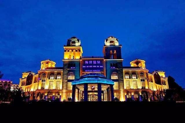 玻璃式挡烟垂壁港中旅海泉湾温泉酒店项目