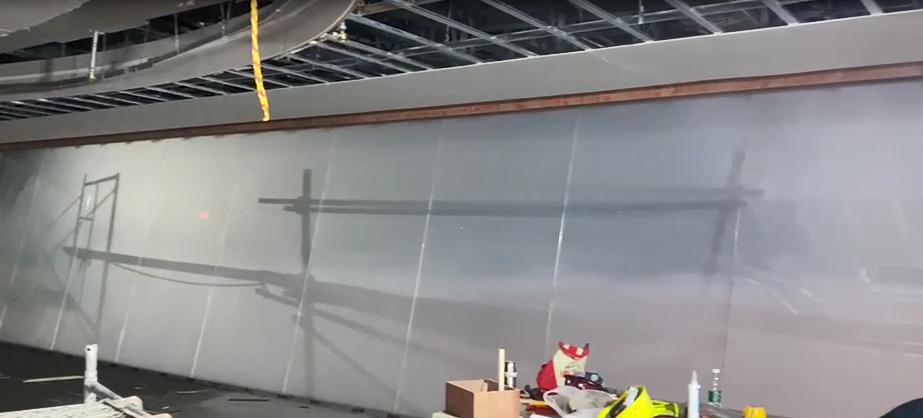自贡腾凤指控大厅装修工程雾化玻璃项目